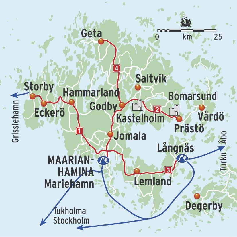 Паромные терминалы Мариехамн и Лонгняс