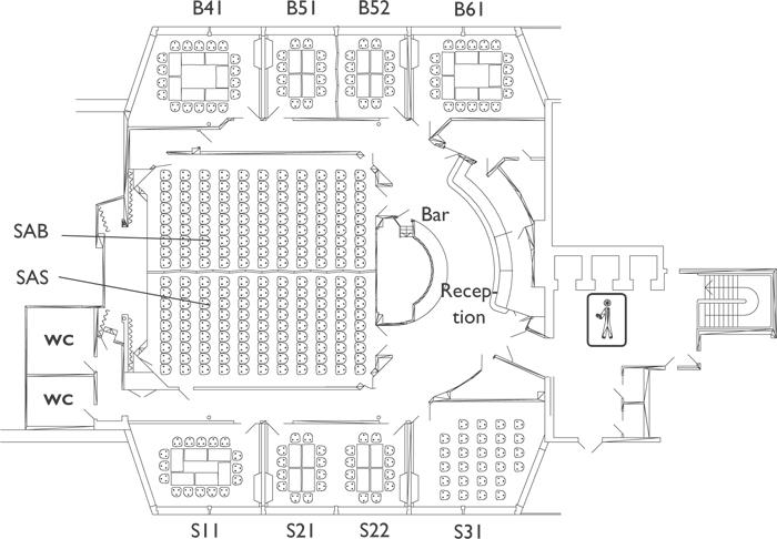 Схема конференц-зала на пароме Gabriella