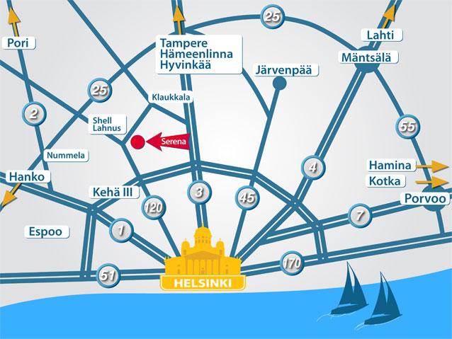 карта пути до Серены