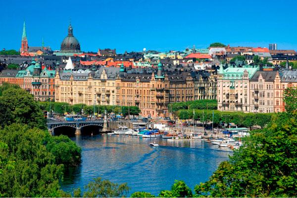 Стокгольм в начале весны.
