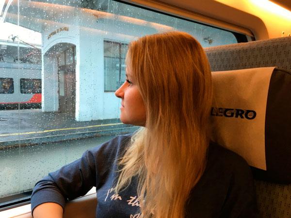 Путешествие на поезде.