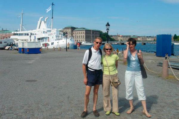 Туристы в порту.