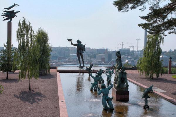 Скульптуры в парке Millesgården.