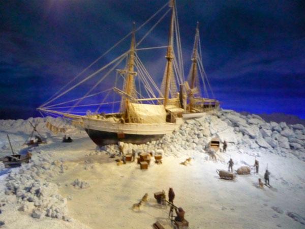 Корабль во льдах.