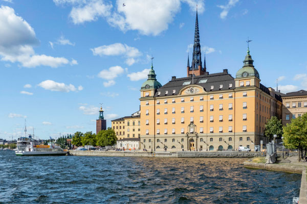 Солнечный август в столице Швеции.