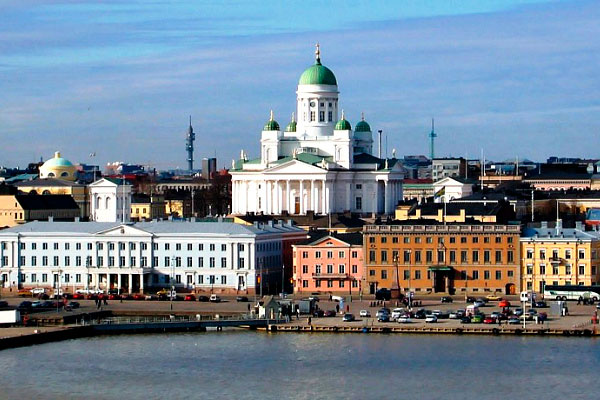 Столица Финляндии в ноябре.
