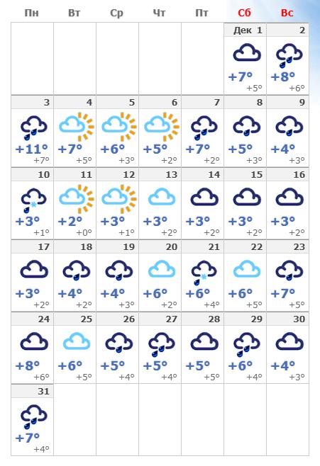 Погода в декабрьском Копенгагене.