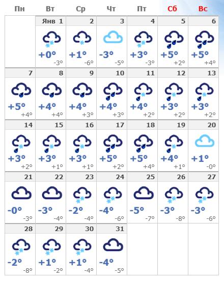 Погода в январском Хельсинки.