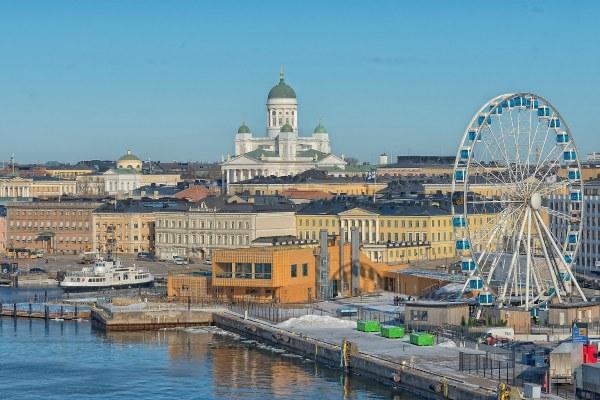 Вид на Хельсинки в апреле 2020 года.