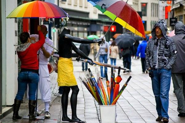 Магазин зонтиков.