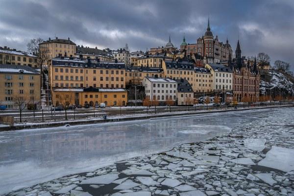 Зима в Стокгольме.